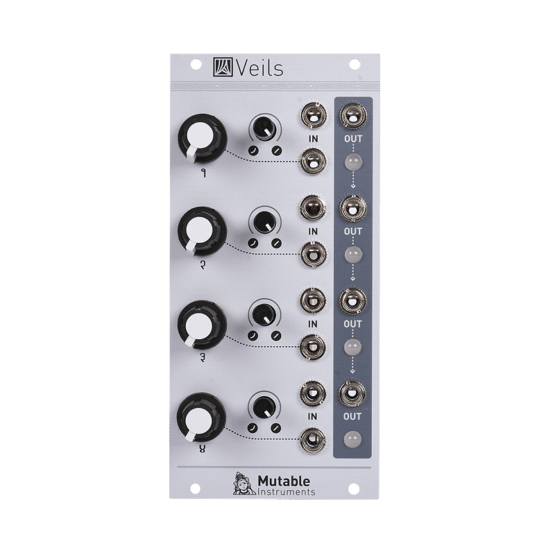 Mutable Instruments Veils 555x555 Synthesizers and Drum Machines, Eurorack Modules, VCA