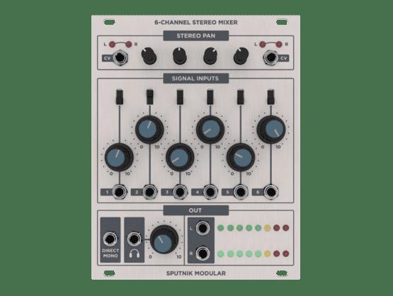 Sputnik Modular 6 Channel Stereo Mixer 555x418 Sputnik Modular 6 Channel Stereo Mixer