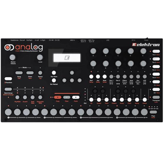 Elektron Analog Four front 555x555 Sintetizzatori e Drum Machine, Sintetizzatori e Tastiere, Synth Desktop, Drum Machines Batterie Elettroniche
