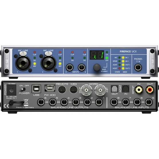 products fireface ucx 5b 555x555 Convertitori Audio, Pro Audio, Audio Digitale, Schede Audio per PC e MAC