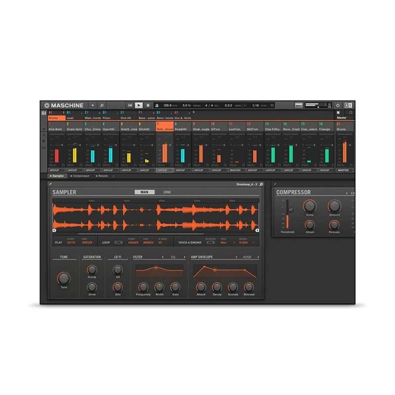 Native Instruments Maschine Mikro Sintetizzatori e Drum Machine, Sintetizzatori e Tastiere, Master Control, Pro Audio, Software Native Instruments Maschine Mikro 07