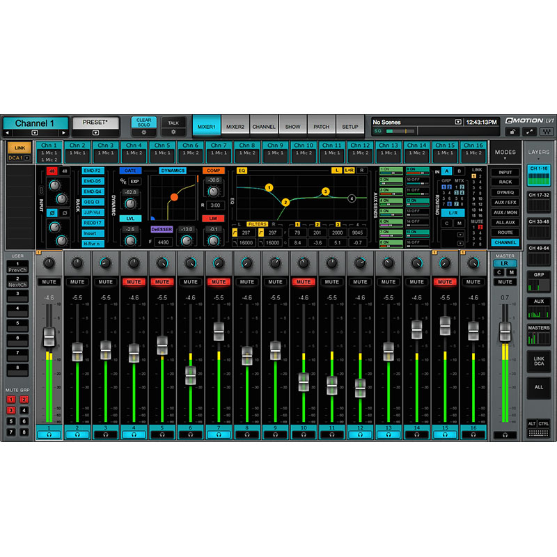 Waves emotion lv1 32ch 01 Pro Audio, Software