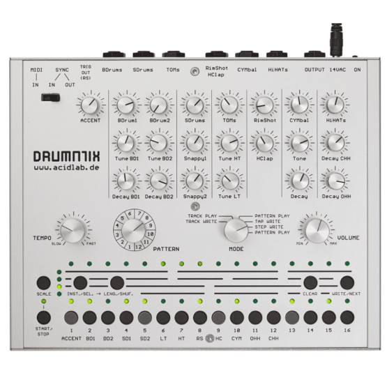 Acidlab drumatix 2 555x555 Sintetizzatori e Drum Machine, Drum Machines Batterie Elettroniche