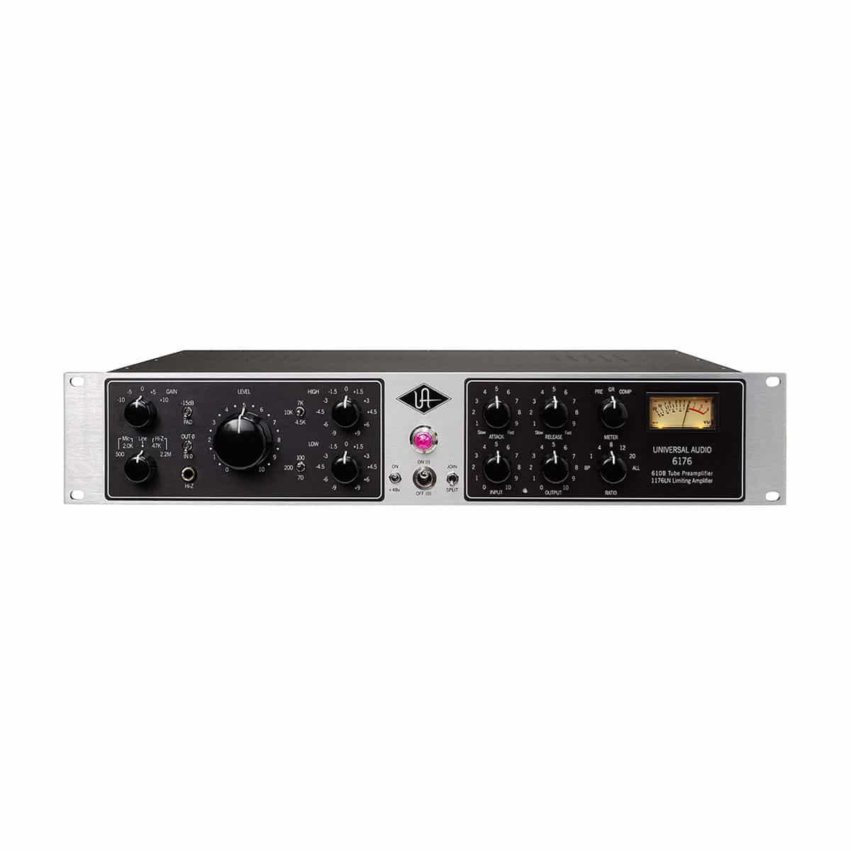 Universal Audio 6176 01 Channel Strip, Outboard professionale analogico, Preamplificatori microfonici in formato Rack e Serie 500, Strumentazioni Pro Audio per studi di registrazione