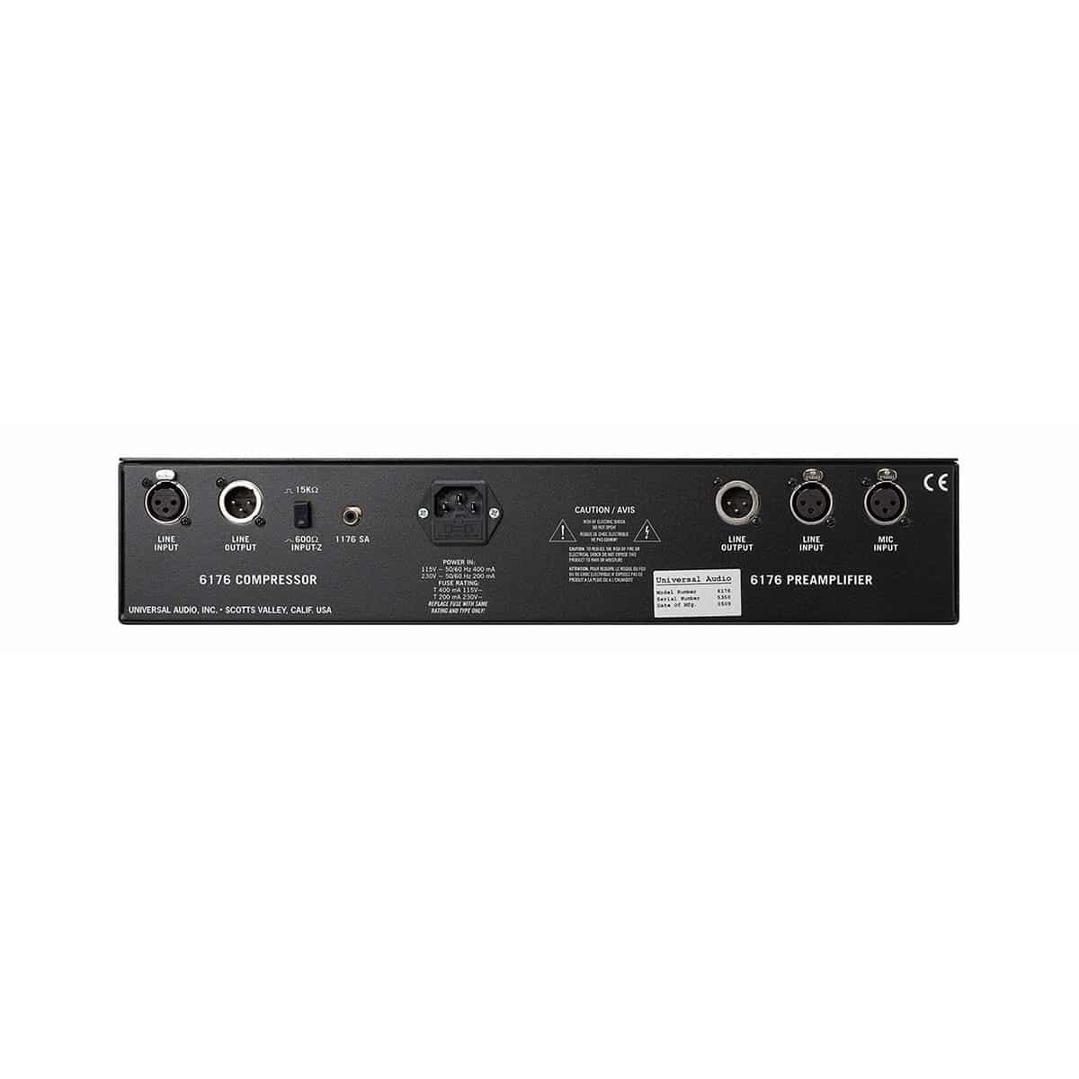 Universal Audio 6176 02 Channel Strip, Outboard professionale analogico, Preamplificatori microfonici in formato Rack e Serie 500, Strumentazioni Pro Audio per studi di registrazione
