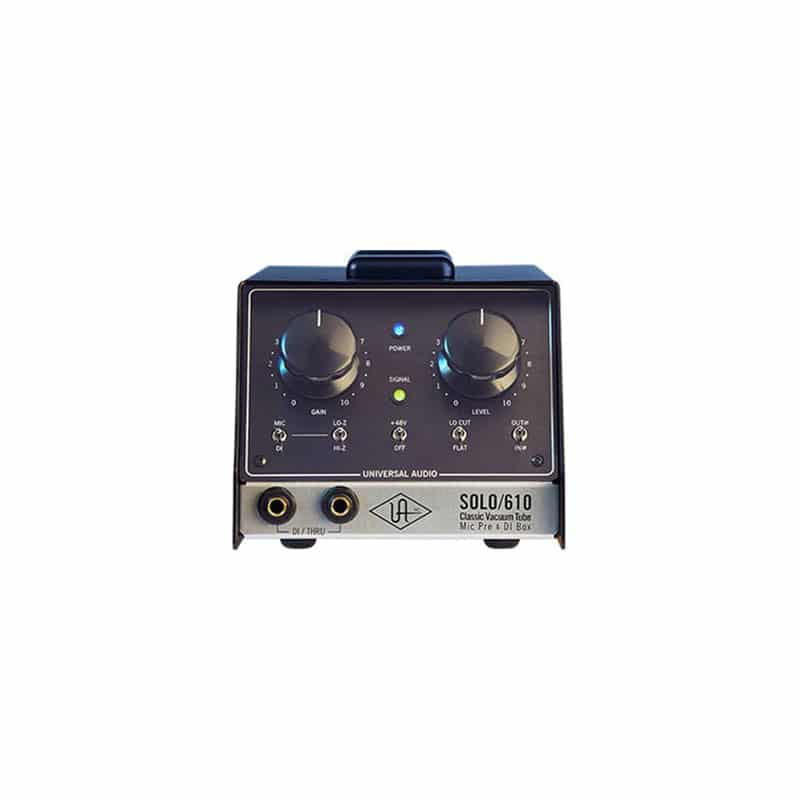 Universal Audio SOLO610 01 D.I. Direct Interface Box e Reamp Box, Outboard professionale analogico, Preamplificatori microfonici in formato Rack e Serie 500, Strumentazioni Pro Audio per studi di registrazione
