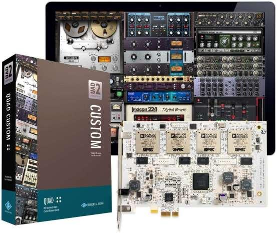Universal Audio UAD 2 QUAD Custom 555x467 Pro Audio, Audio Digitale Convertitori e Schede Audio, Schede DSP e acceleratori