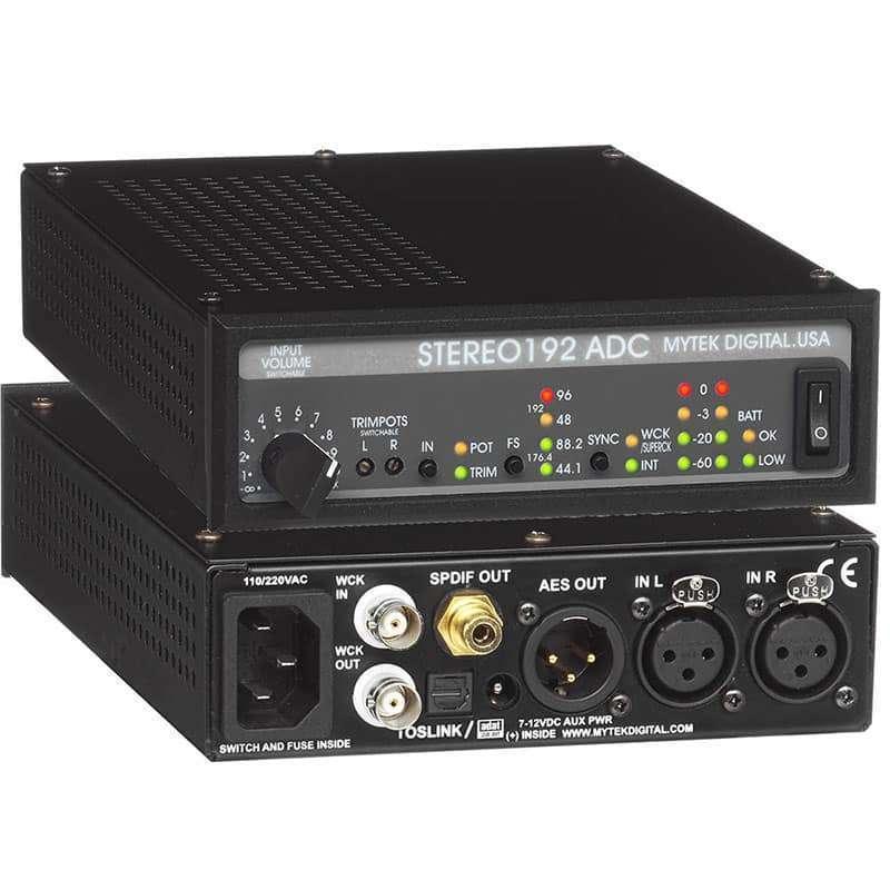 Stereo192ADC front back Mytek STEREO192 ADC
