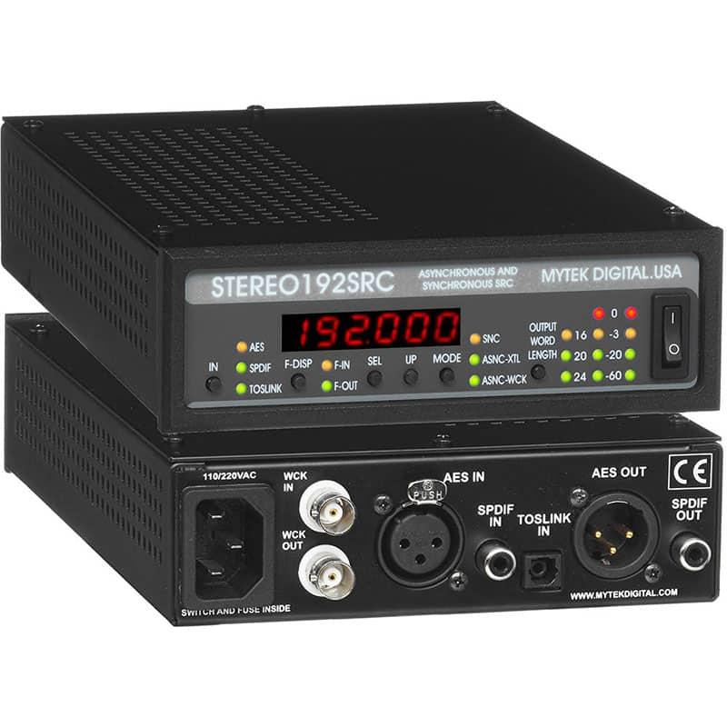 Stereo192SRC front back Mytek STEREO192 SRC