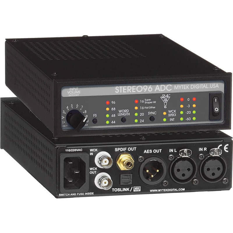 Stereo96ADC front back Mytek STEREO96 ADC