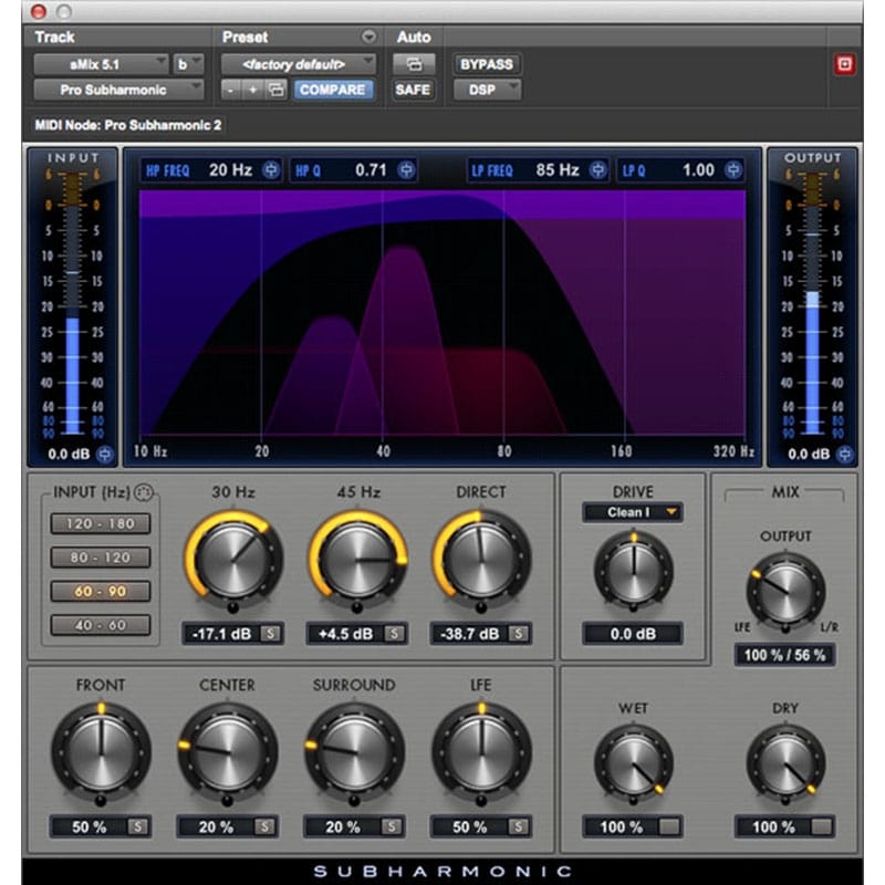Pro Subharmonic InsetPlugin AVID Audio Plug in Activation Card Tier 2