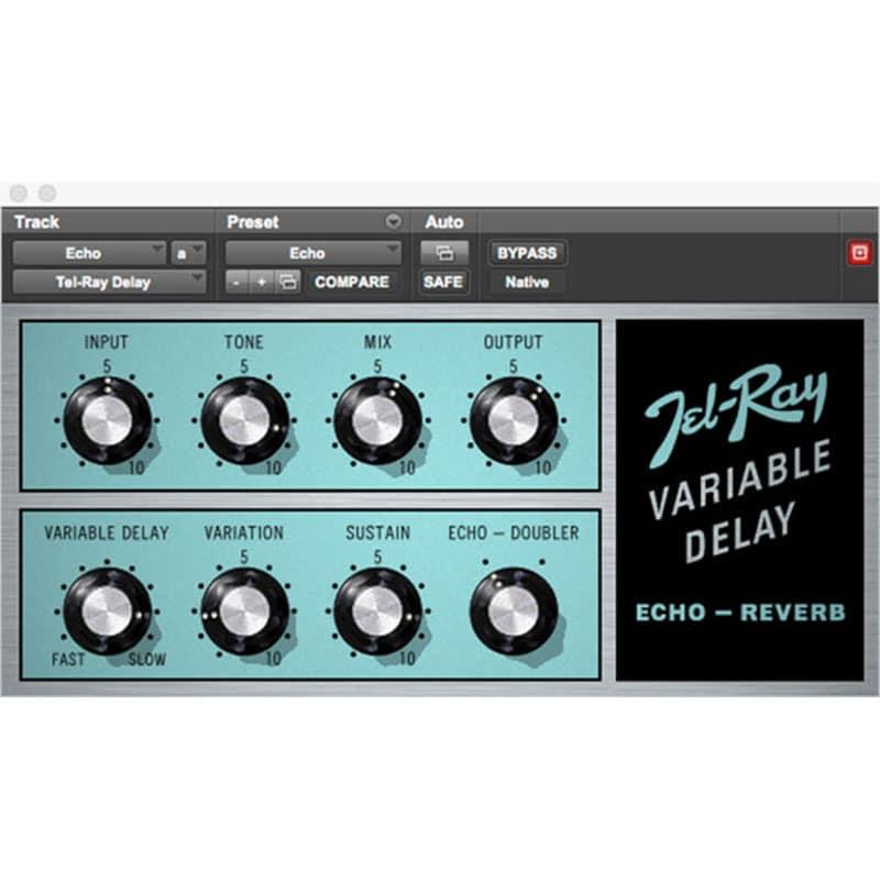 Tel Ray Variable Delay InsetPlugin AVID Audio Plug in Activation Card Tier 1