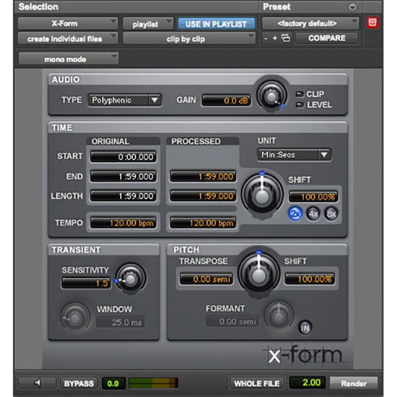 X Form InsetPlugin AVID Audio Plug in Activation Card Tier 3