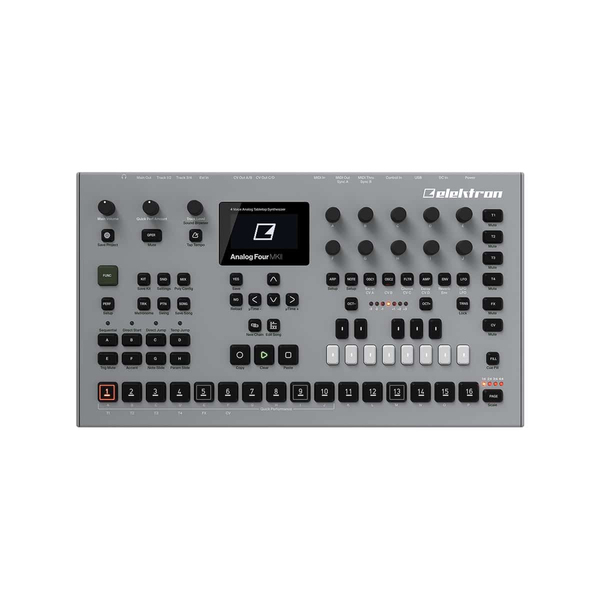 Elektron Analog Four MKII 04 Sintetizzatori e Drum Machine, Sintetizzatori e Tastiere, Synth Desktop