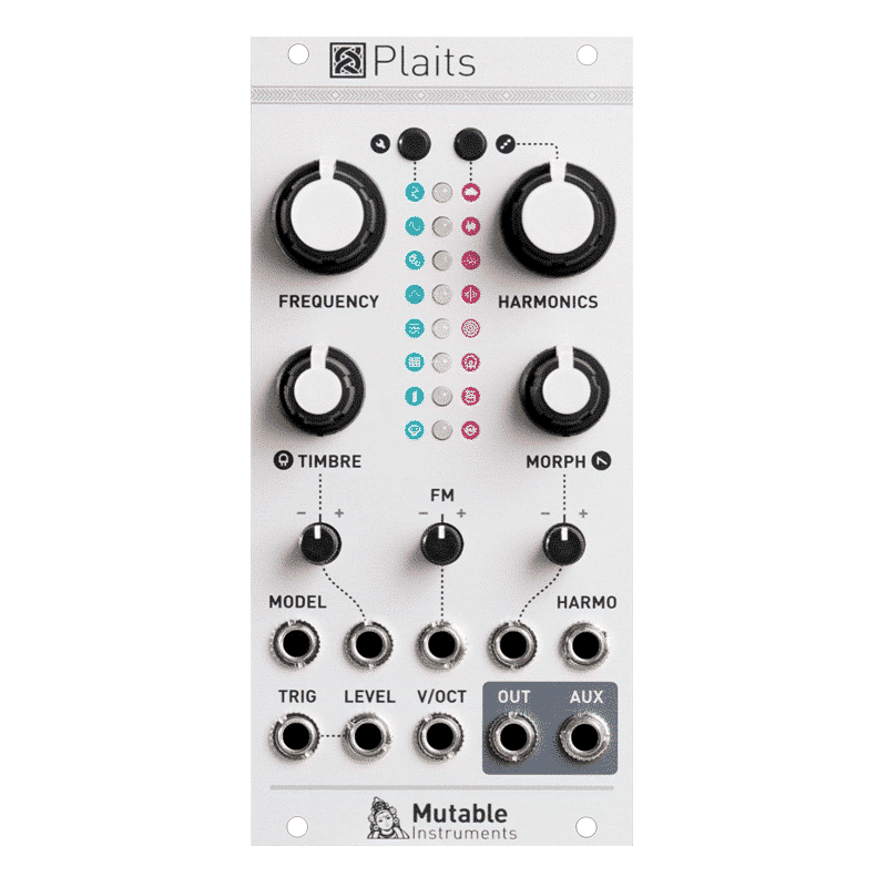 Mutable Instruments Plaits Synthesizers and Drum Machines, Eurorack Modules, Drums, LFO, Oscillators, Waveshaper