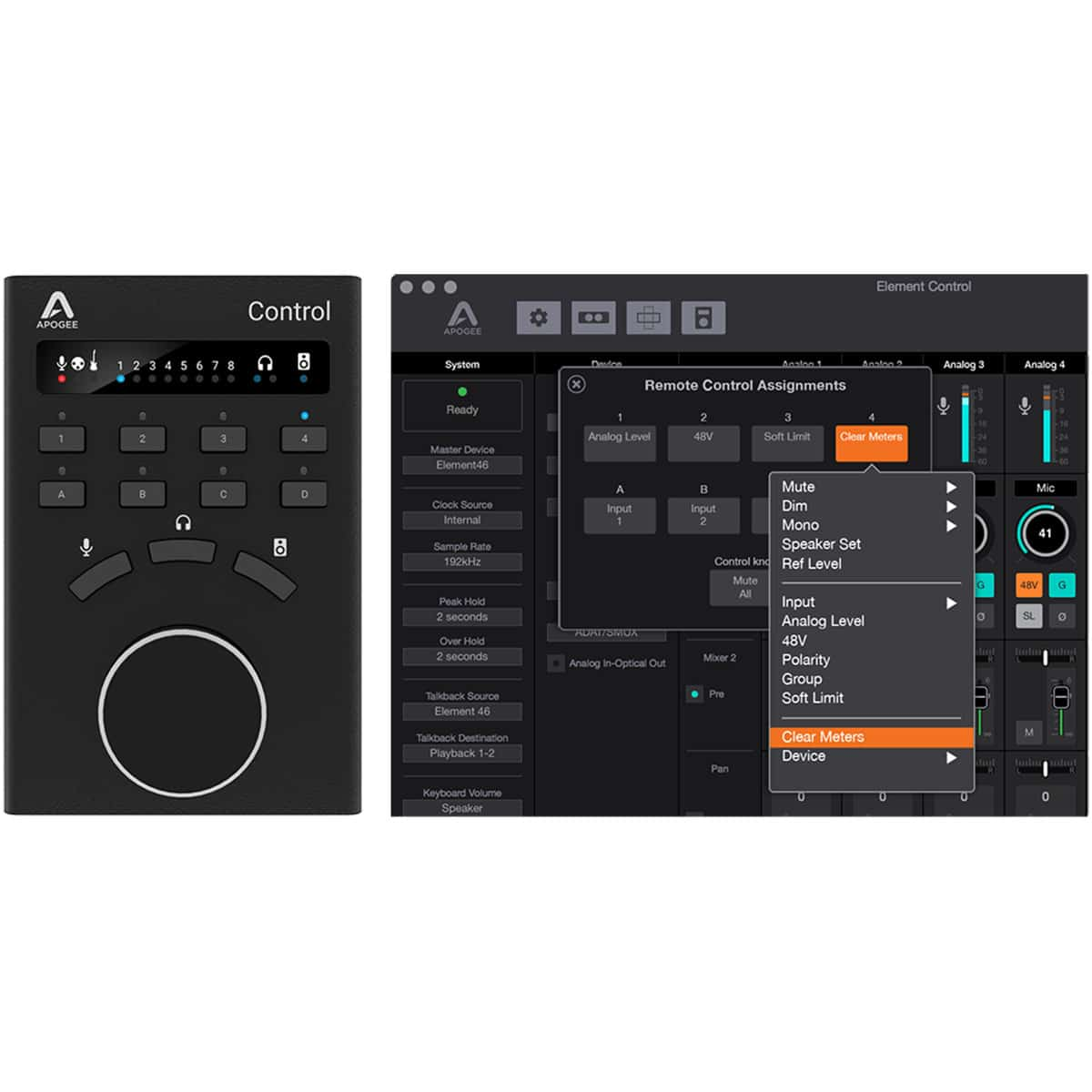 Apogee Control 08 Pro Audio, Accessori, Remote Controller