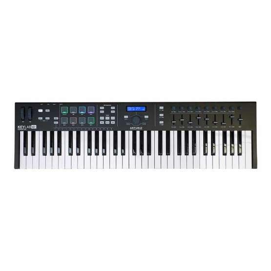 Arturia KeyLab61Essential BlackEdition 01 555x555 Sintetizzatori e Drum Machine, Sintetizzatori e Tastiere, Midi Controllers