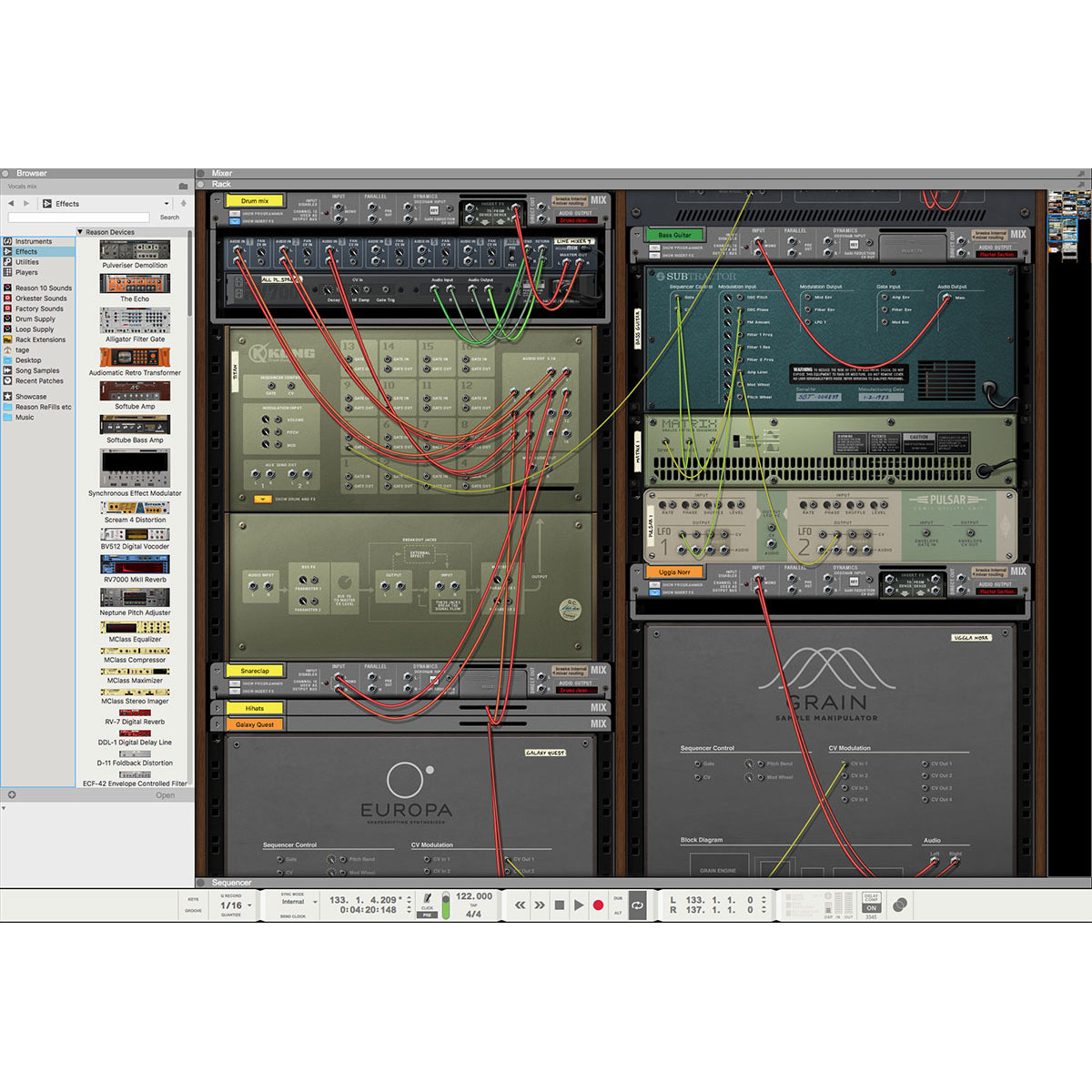 Propellerhead Reason 10 Student Teacher Multilicenze Pangea Usbpc Cable Diagram 03 555x555 Pro Audio Software Daw