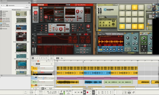 Propellerhead Reason 10 Intro 01 555x332 Propellerhead Reason Intro 10