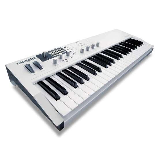 Waldorf Blofeld Keyboard White 01 555x555 Waldorf Blofeld Keyboard Bianca