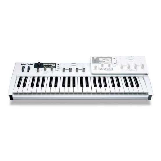 Waldorf Blofeld Keyboard White 03 555x555 Waldorf Blofeld Keyboard Bianca