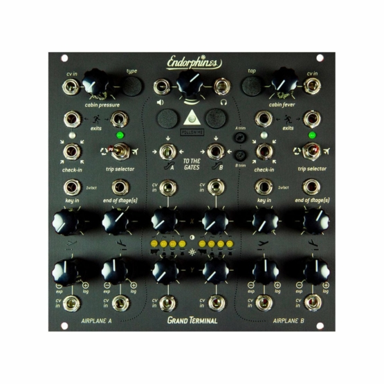 Endorphin.es Grand Terminal black 555x555 Effect, Envelope, Eurorack Modules, Filters, LFO, Synthesizers and Drum Machines, VCA