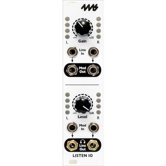 4MS Listen IO front view 555x555 Eurorack Utility, Mixer modules, Moduli Eurorack e accessori, Sintetizzatori e Drum Machine