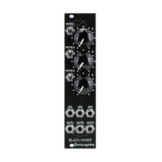 Erica Synths Black Mute Mixer 555x555 Mixer modules, Moduli Eurorack e accessori, Sintetizzatori e Drum Machine