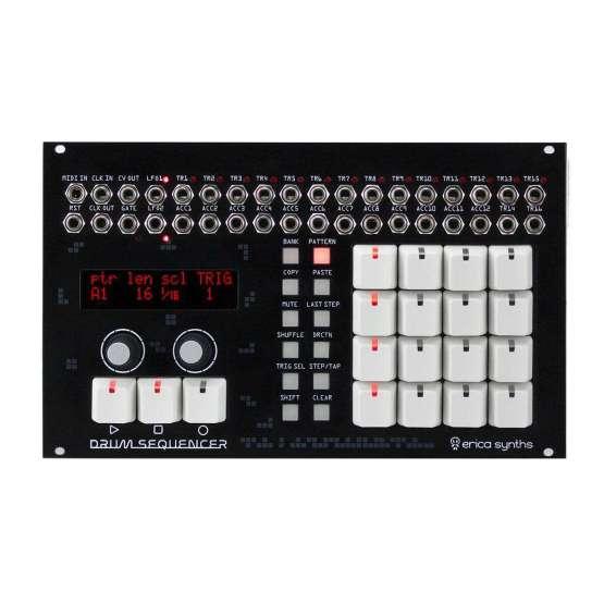Erica Synths Drum Sequencer 555x555 Moduli Eurorack e accessori, Sequencer, Sintetizzatori e Drum Machine