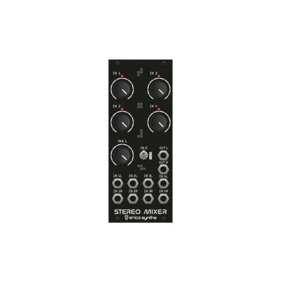 Erica Synths Drum Stereo Mixer front view 555x555 Mixer modules, Moduli Eurorack e accessori, Sintetizzatori e Drum Machine