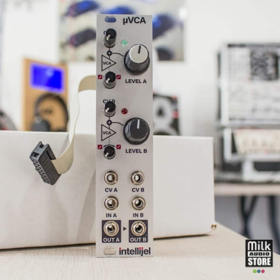 Intellijel uVCA II usato 555x555 Moduli Eurorack e accessori, Sintetizzatori e Drum Machine, Usato, VCA Voltage Controlled Amplifier