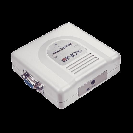 32350 1 555x555 Lindy 2 Port VGA Splitter Compact