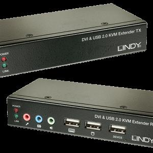 Extender KVM Cat.6 DVI-D Single Link