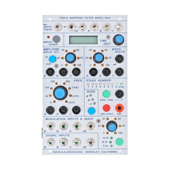 Buchla 291e Triple Morphing Filter front view 555x555 Buchla 291e Triple Morphing Filter