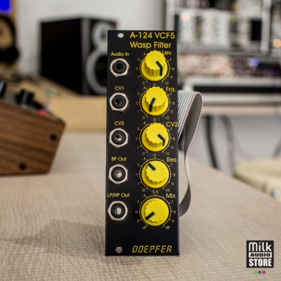 Doepfer A 124 Wasp Filter SE 555x555 Doepfer A 124 Wasp Filter SE black/yellow (usato)