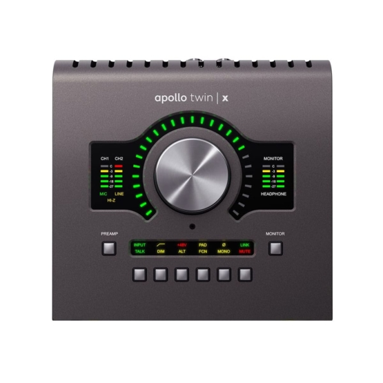 Universal Audio Apollo Twin X Quad top view 555x555 Universal Audio Apollo Twin X Quad