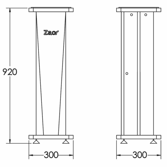 Zaor Croce Stand 36 Technical Drawings 555x555 Zaor Croce Stand 36 (pair) Cherry/Black